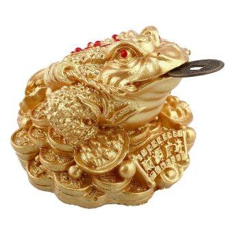 Harga UJS Gold Feng Shui Money Fortune Chinese Frog Toad Coin three-legged Bed Home Decor