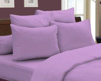 Harga Essina 100% Cotton 620TC Fitted Sheet set - Simplicity Purple