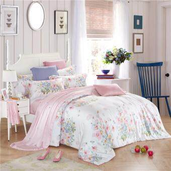 Harga Floral Silk Bedding set King Super King size NEW bed linen Duvet Cover set Bed sheet pillowcases 4pcs magnificence All kinds of flowers