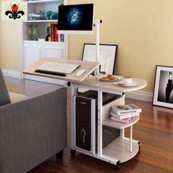 Harga Space Saving Movable Computer Desk with Shelf