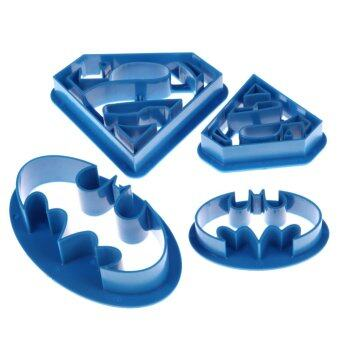 Harga Home Living Cookie Cutters Moulds 4 Pcs Super Hero Batman Superman Cookie Cutters Sugarcraft Cake Decoration