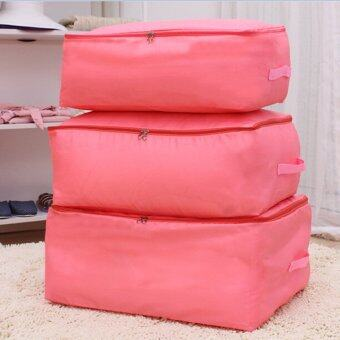 Harga Gracefulvara Quilt Blanket Clothes Foldable Storage Bag (Pink)