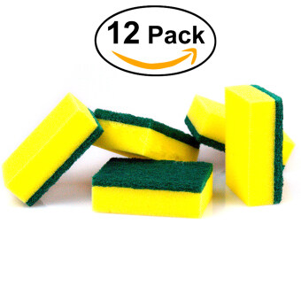 Harga 12pcs Generic Dual Sided Cleaning Thicker Eraser Sponge Heavy Duty Scrub Sponge