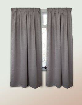 Harga Essina Blackout French Pleated Curtain 1 Layer Ziva Grey