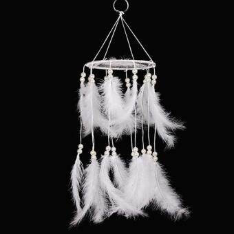Harga Broadfashion Handmade White Feathers Dream Catcher Home Decoration Wall Hanging Ornament (White)