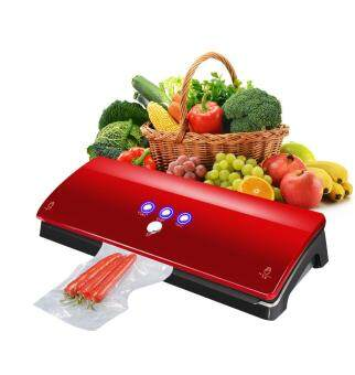 Harga Vinmax Deluxe Automatic Electric Kitchen Household Food Sealer Vacuum Sealing Machine 220V (Red)