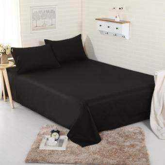 Harga Buy One get One Free! 100% cotton coffee bed sheet,single/twin/full/queen/king size flat sheet bed linen,bed cover