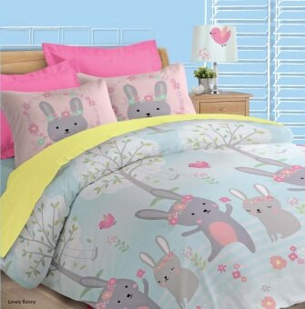 Harga Akemi Fantasia Super Single Fitted Sheet Set (Lovely Bunny)