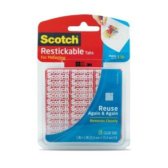 Harga Scotch Restickable Tabs R100, 1 in x 1 in, 18 Squares