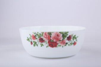 Harga Giacomo 23cm (9'') Decorated Opal Salad Bowl - Rose Delight