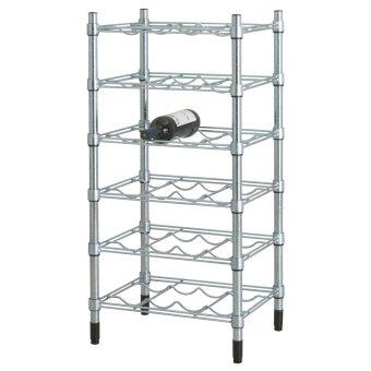 Harga Ikea 201.672.11 Omar Wine Bottle Shelf, Steel Galvanised (46 x 92 x 36 cm)