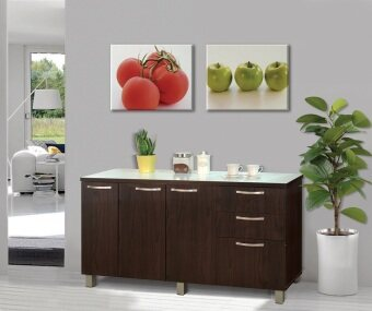 Harga Kitchen Cabinet( Dark Brown)
