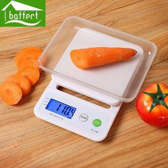 Harga BAAFFECT Kitchen Telectronic Scales Precision Digital Scales Maximum Weighing 5kg White