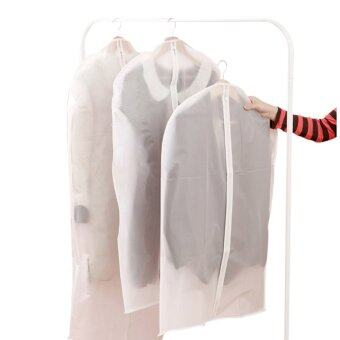 Harga 3 PCS Clear Cover Suit Garment Cloth Protective Cover Dust Proof Cover