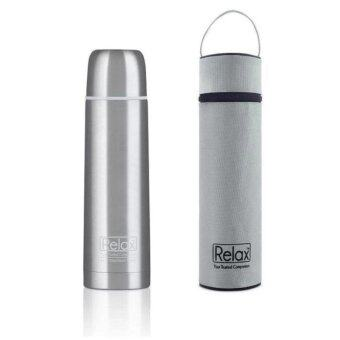 Harga Relax D2050 Stainless Steel Thermal Flask 1L with Pouch (Silver)