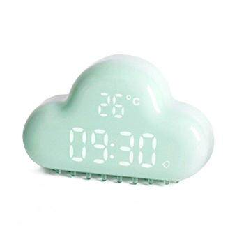 Harga Cute Cloud Alarm Clock Creative Voice Sound Control Led Clock for Students Kids Boys Girls with Time and Temperature Rechargeable Always Display Energy Saving Mode