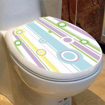 Harga Toilet Cover Sticker-WC Toilet Seat Lid Cover - PVC Sticker