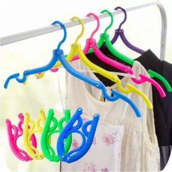 Harga 10 Pieces of Foldable Travel Clothes Hangers Coat Hanger with Anti-slip Grooves