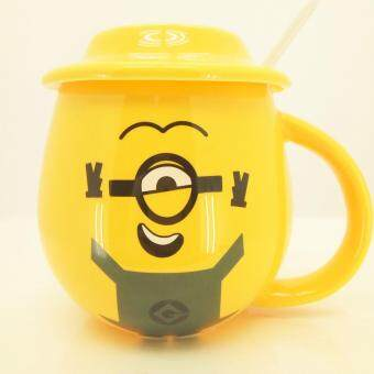 Harga Yellow Minion Mug W/Lid & Spoon