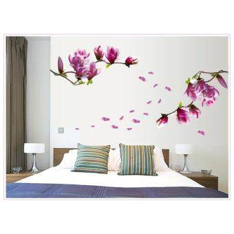 Harga 3D NEW!Magnolia bloom Joy Photo Wall Sticker Wall Decal Poster Photo Picture Frame Base Art DIY Home Decor Make home more warm