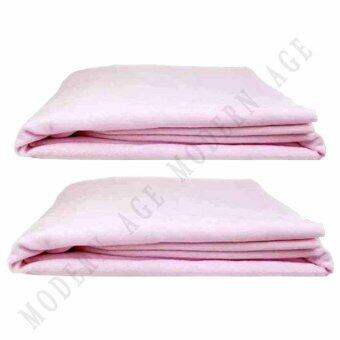 Harga 2 x Modern Age 100% Cotton Waterproof Bamboo Fiber Mattress Protector (Rose)