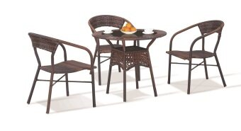 Harga Lavin Rattan Outdoor Dining Set - GS 8127 (1 + 4)