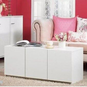 Harga 3 - Door Access Emporium Sideboard Cabinet Pearly White
