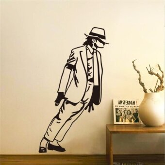 Harga King of Pop Michael Jackson wall stickers music fans room decorations 8328. vinyl home decals mural arts adesivos de paredes 3.5