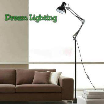 Harga MODERN ADJUSTABLE FLOOR STAND STUDY LAMP