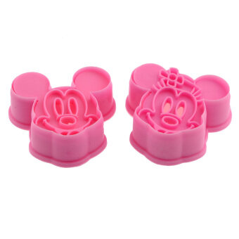 Harga LT365 Cute Mickey Mouse Plastic Cookie Cutter Mold 2 Pack Pink
