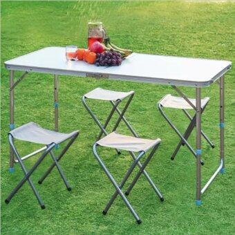 Harga F&F: Outdoor Foldable & Portable Picnic Table with 4 Stools