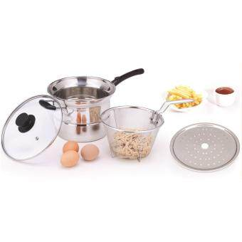 Harga Giacomo Stainless Steel 4pcs Multipurpose 22cm Deep Fryer