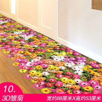 Harga 3D Wallpaper Home Décor Wall Sticker Bathroom Floor Sticker Creative