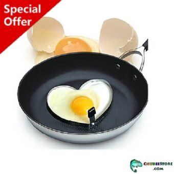 Harga Heat proof stainless steel Valentine love heart shaped fried egg mold /mould /ring /shaper with handle holder for homemade frying pan breakfast cooking