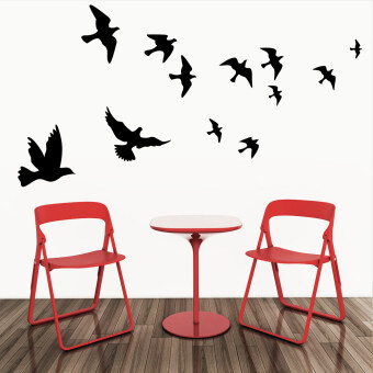 Harga Waterproof Flying Birds Picture Wall Poster Background Wall Sticker