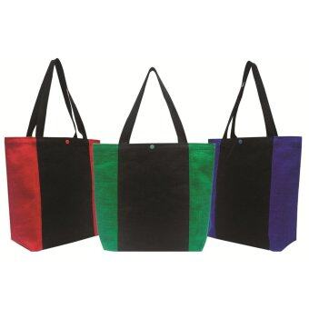 Harga 3pcs Jute Colourful Carrier Bag (B0188)