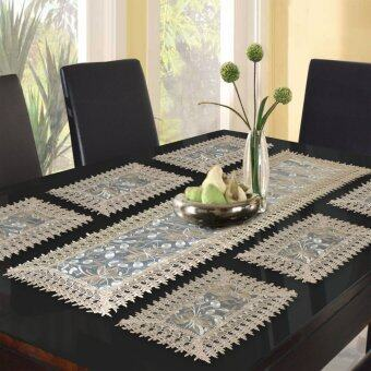 Harga Essina Dandelion 1pc Table Runner + 6pcs/set placemat