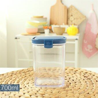 Harga BAFFECT Plastic Kitchen Grains Storage Box Lidded Sealed Cans Food Canisters 700ml Transparent