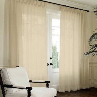 Harga Essina French Pleated Curtain Sheer 1 Layer Lacey Cream