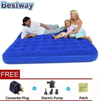 Harga BESTWAY (67004) 1.83 Meter Portable Premium Series outdoor/indoor Inflatable Double Bed Air Mattresses - Premium