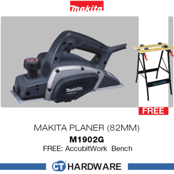 Harga Makita M1902G Planers 500W 16000 Rpm MT-Series + Free Gift Work Bench
