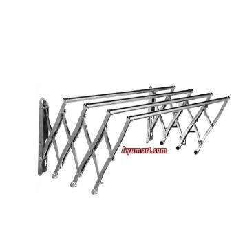 Harga Aluminium 4Feet Extension Wall Hanger Cloth Laundry Hanger ( 5 row )