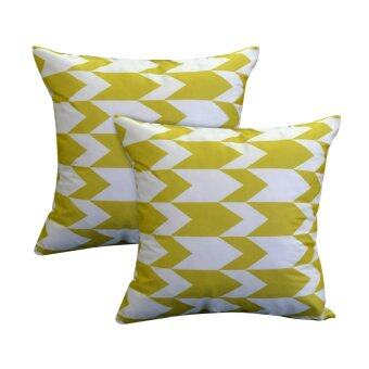 Harga Essina Arrow Yellow 43x43 Cushion Cover + Infill_2pcs/set