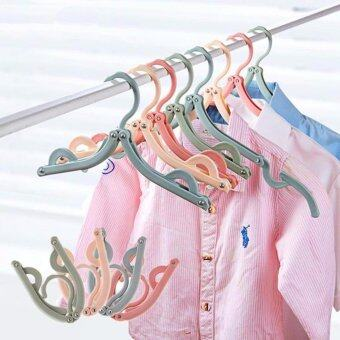 Harga Pack of 8 PCS Foldable Travel Clothes Hangers Coat Hanger (Pastel)
