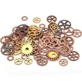Harga 100pcs Steampunk Gears Mixed Packing Zinc Alloy Gear Charms Vintage Jewelry Mixed Charms