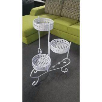 Harga LAVIN ST03 IRON FLOWER POT WHITE