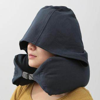 Harga Unique creative U-shaped hooded neck pillow travel office home nap multi-functional pillow