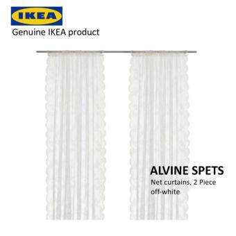 Harga IKEA ALVINE SPETS Net curtains/ Day Curtain/ Sheer, 1 pair (2 Piece), off-white, 145x250 cm, 100% Polyester