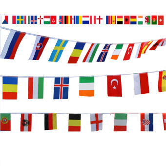 Harga World Country National Hanging String Flags of Top 24 Countries of 2016 European Football Champions