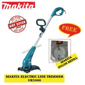 Harga Makita UR3000 300MM (11-3/4″) Electric Line Trimmer Free Nylon Refill
